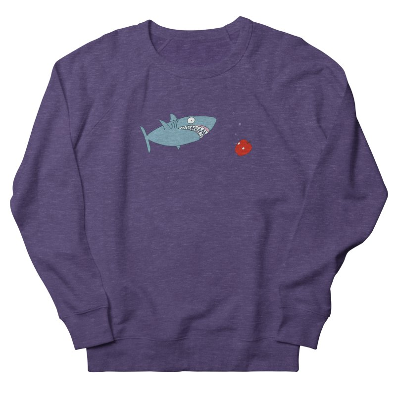 Shark and Apple Women's French Terry Sweatshirt by KAUFYSHOP