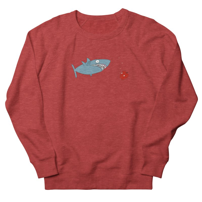 Shark and Apple Men's French Terry Sweatshirt by KAUFYSHOP