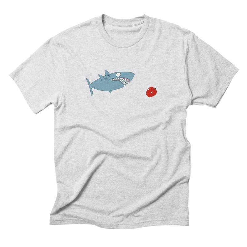 Shark and Apple Men's Triblend T-Shirt by KAUFYSHOP