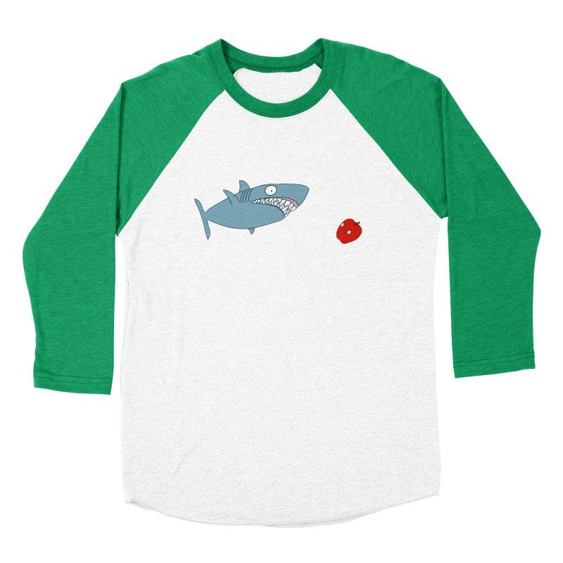 Shark and Apple Men's Baseball Triblend Longsleeve T-Shirt by KAUFYSHOP