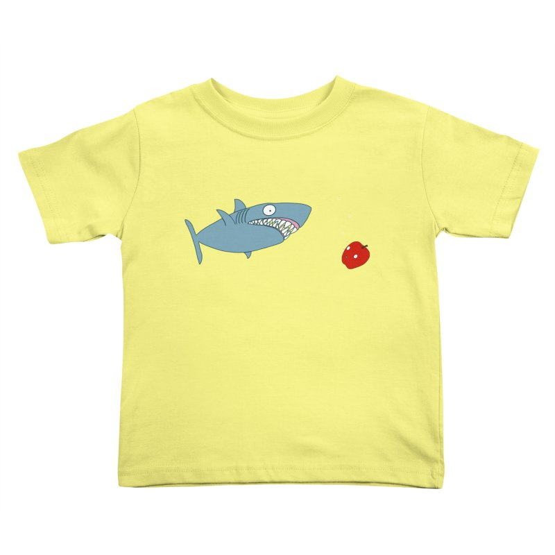 Shark and Apple Kids Toddler T-Shirt by KAUFYSHOP