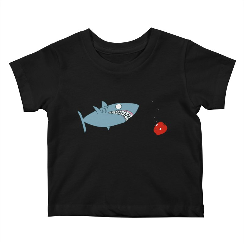 Shark and Apple Kids Baby T-Shirt by KAUFYSHOP