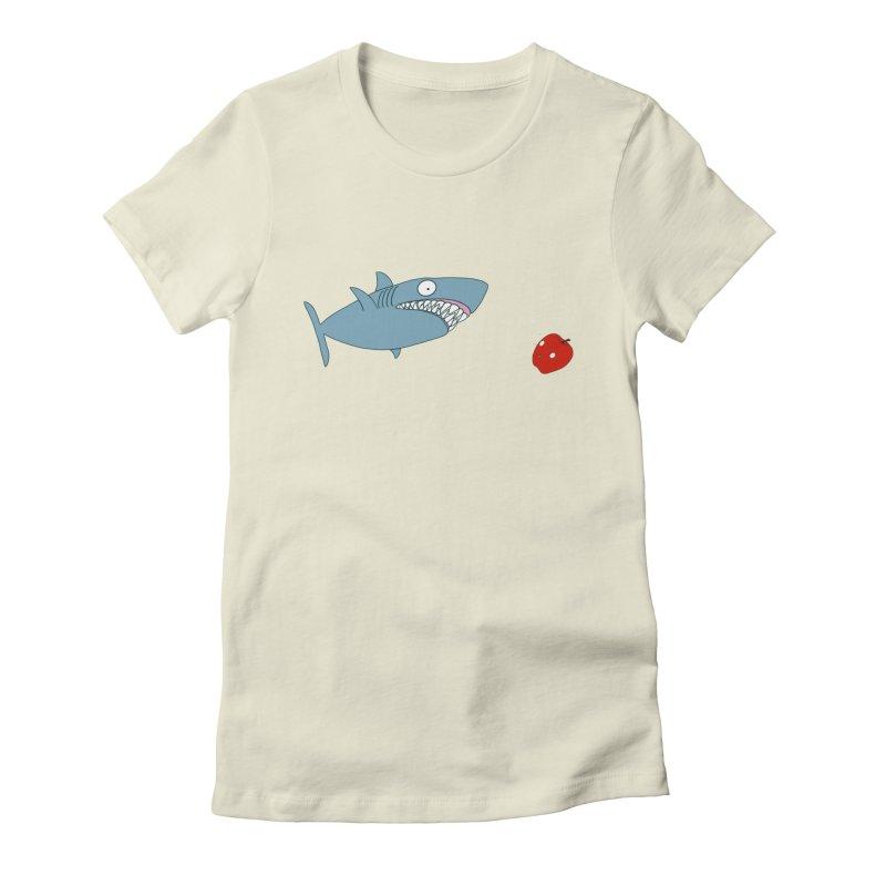 Shark and Apple Women's T-Shirt by KAUFYSHOP
