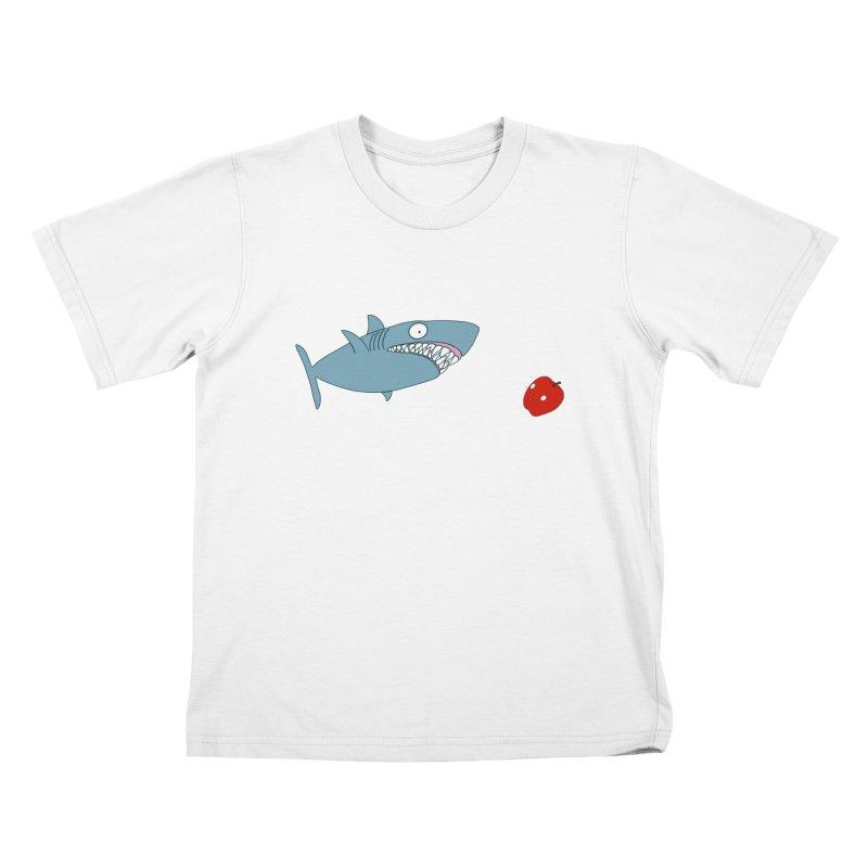 Shark and Apple Kids T-Shirt by KAUFYSHOP