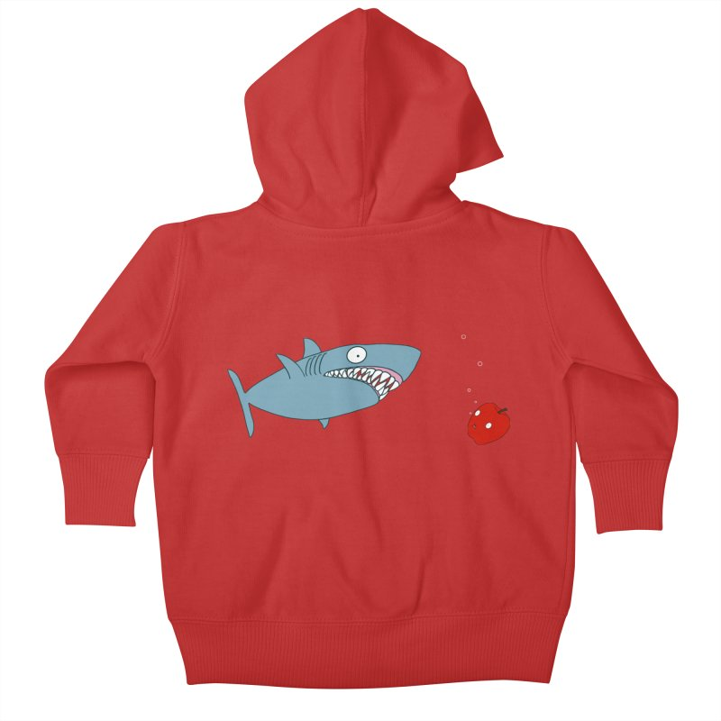Shark and Apple Kids Baby Zip-Up Hoody by KAUFYSHOP