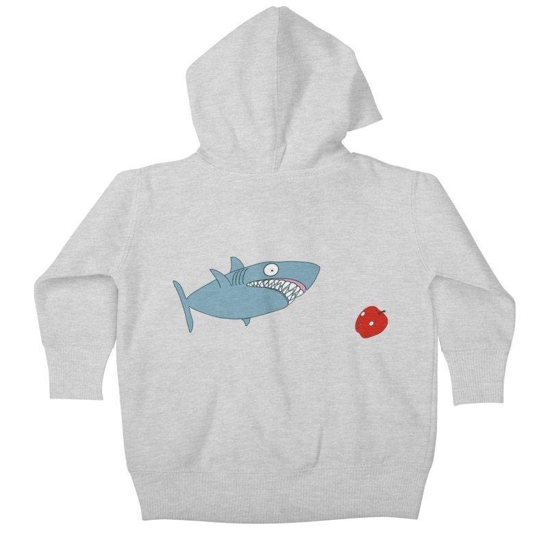 Shark and Apple Kids Baby Zip-Up Hoody by KAUFYSHOP