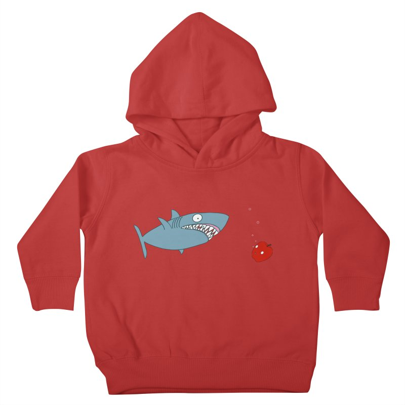 Shark and Apple Kids Toddler Pullover Hoody by KAUFYSHOP