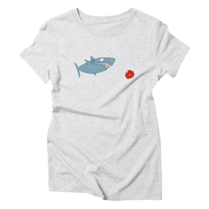Shark and Apple Women's T-Shirt by KAUFYSHOP