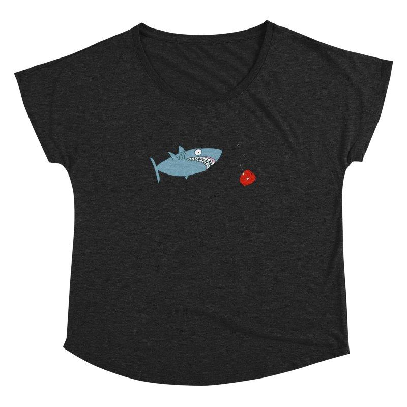 Shark and Apple Women's Dolman Scoop Neck by KAUFYSHOP