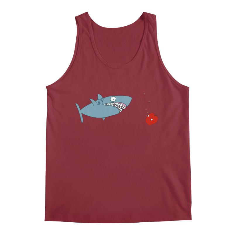 Shark and Apple Men's Tank by KAUFYSHOP