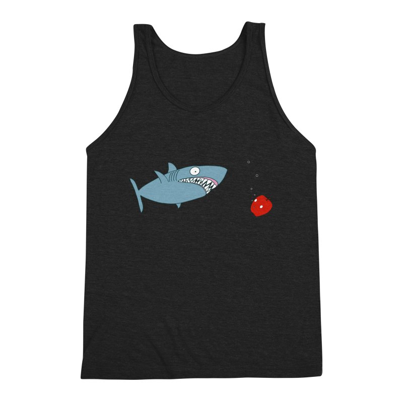 Shark and Apple Men's Triblend Tank by KAUFYSHOP