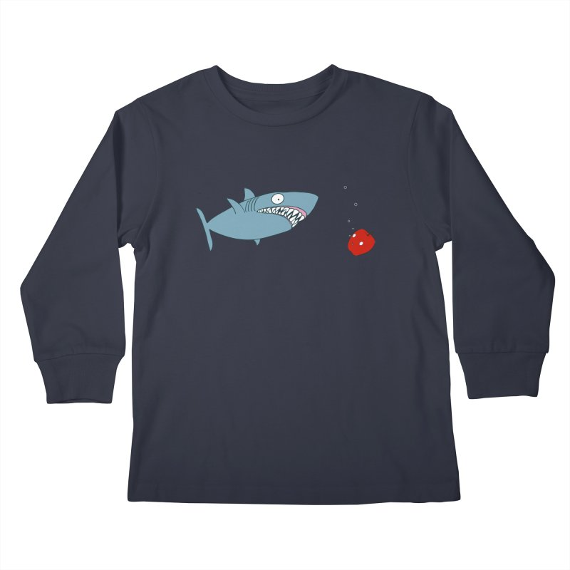 Shark and Apple Kids Longsleeve T-Shirt by KAUFYSHOP