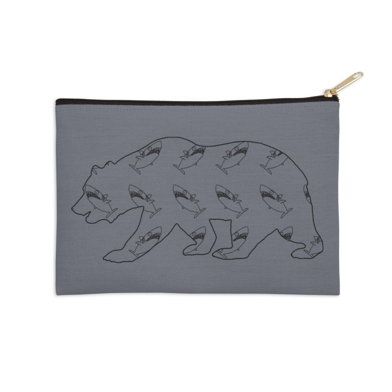 California Sharks Accessories Zip Pouch by KAUFYSHOP