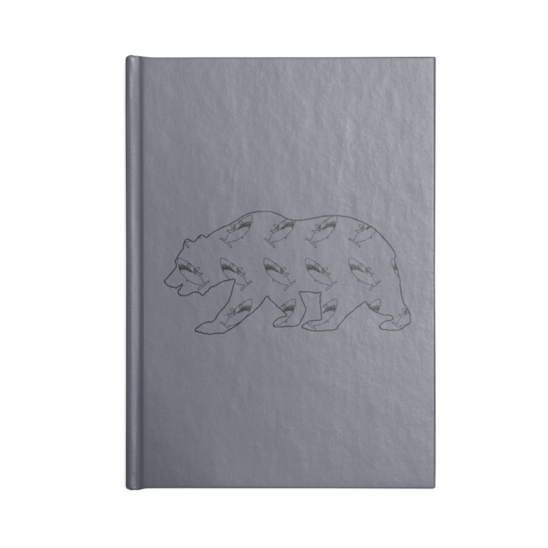 California Sharks Accessories Lined Journal Notebook by KAUFYSHOP