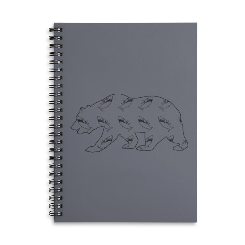California Sharks Accessories Lined Spiral Notebook by KAUFYSHOP