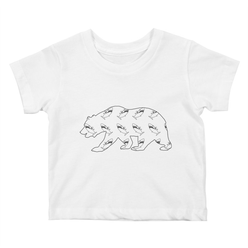 California Sharks Kids Baby T-Shirt by KAUFYSHOP