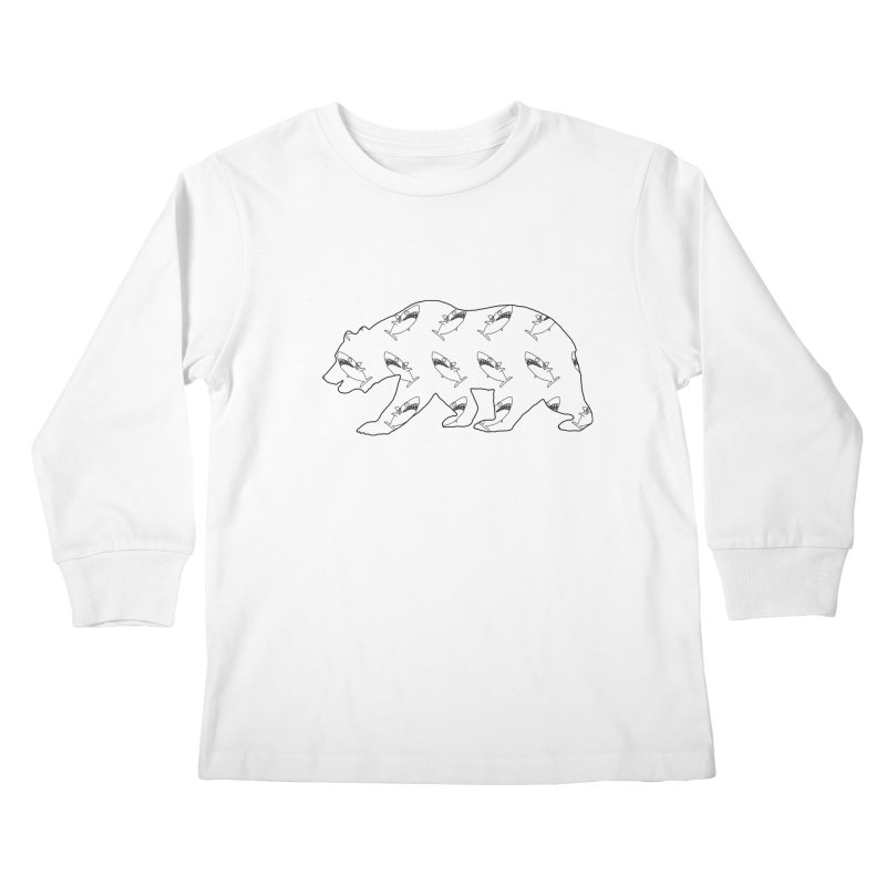 California Sharks Kids Longsleeve T-Shirt by KAUFYSHOP