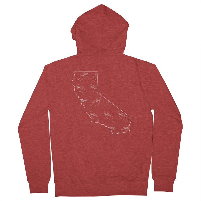 California Land Sharks Women's French Terry Zip-Up Hoody by KAUFYSHOP