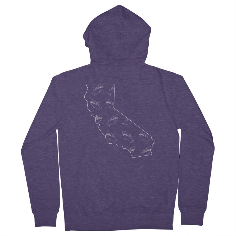 California Land Sharks Men's French Terry Zip-Up Hoody by KAUFYSHOP