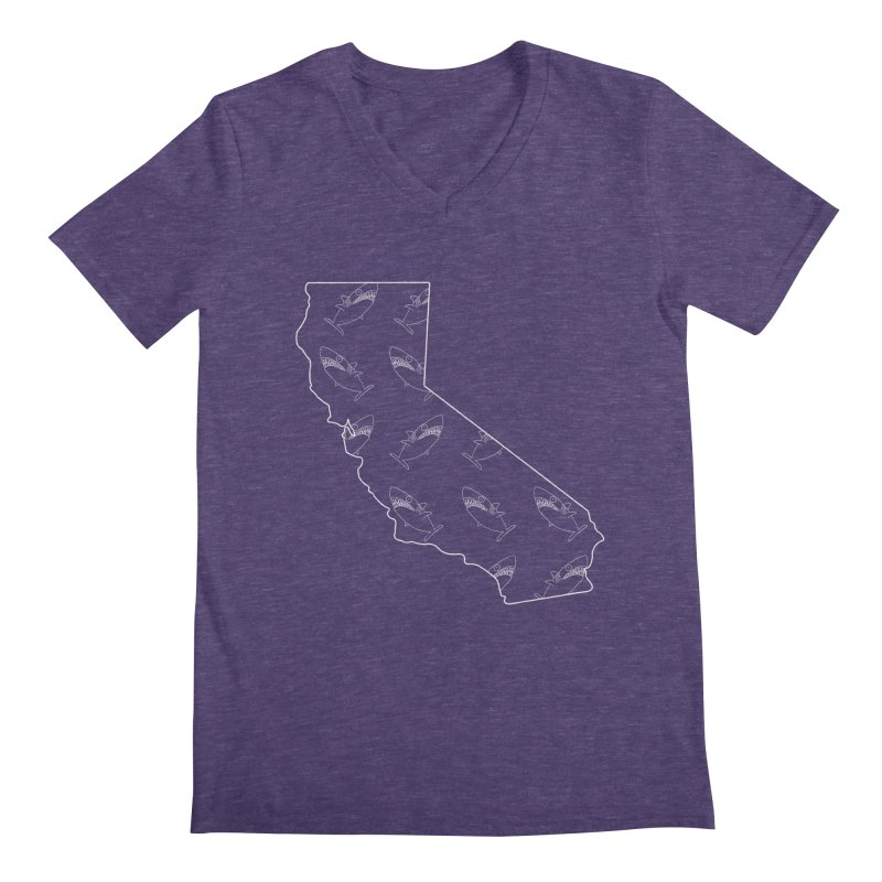 California Land Sharks Men's Regular V-Neck by KAUFYSHOP