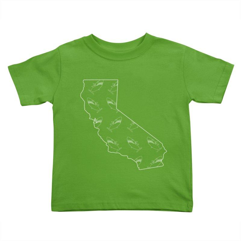 California Land Sharks Kids Toddler T-Shirt by KAUFYSHOP