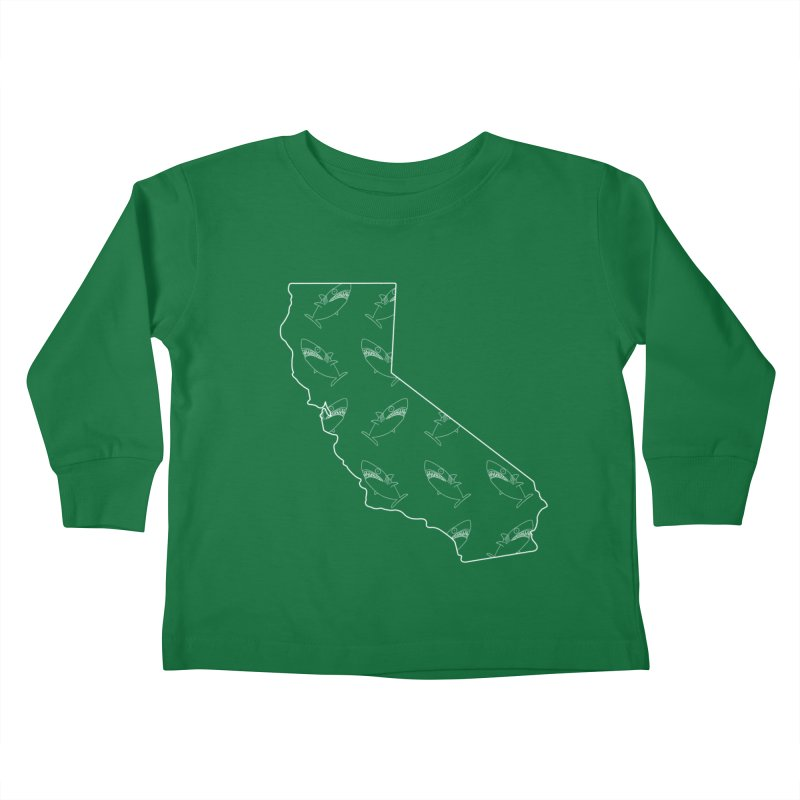 California Land Sharks Kids Toddler Longsleeve T-Shirt by KAUFYSHOP