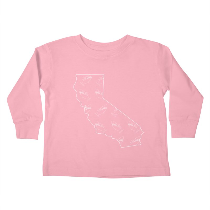 California Land Sharks Kids Toddler Longsleeve T-Shirt by KAUFYSHOP