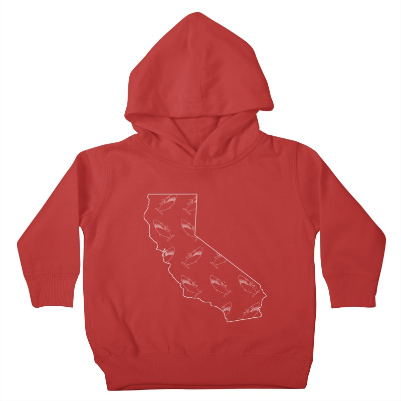 California Land Sharks Kids Toddler Pullover Hoody by KAUFYSHOP