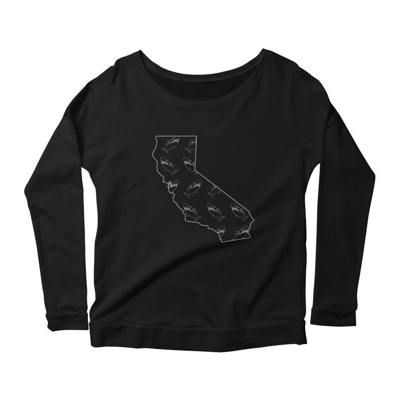 California Land Sharks Women's Scoop Neck Longsleeve T-Shirt by KAUFYSHOP
