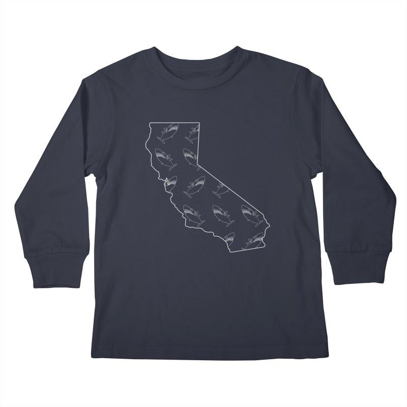 California Land Sharks Kids Longsleeve T-Shirt by KAUFYSHOP