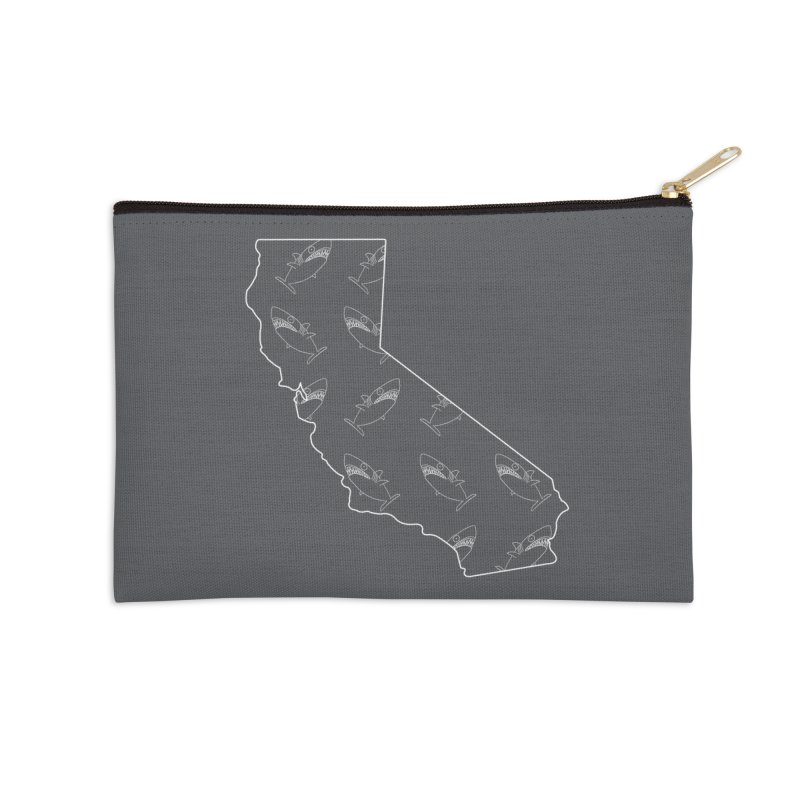 California Land Sharks Accessories Zip Pouch by KAUFYSHOP