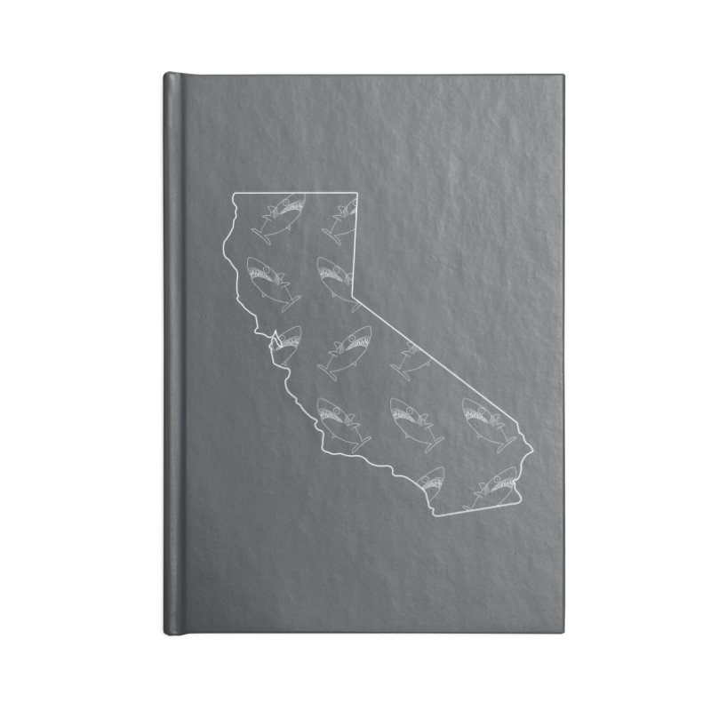 California Land Sharks Accessories Lined Journal Notebook by KAUFYSHOP