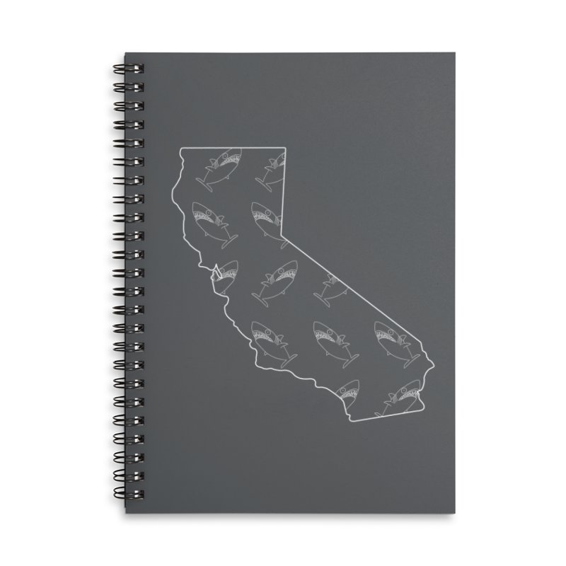 California Land Sharks Accessories Lined Spiral Notebook by KAUFYSHOP