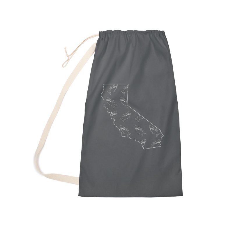 California Land Sharks Accessories Laundry Bag Bag by KAUFYSHOP