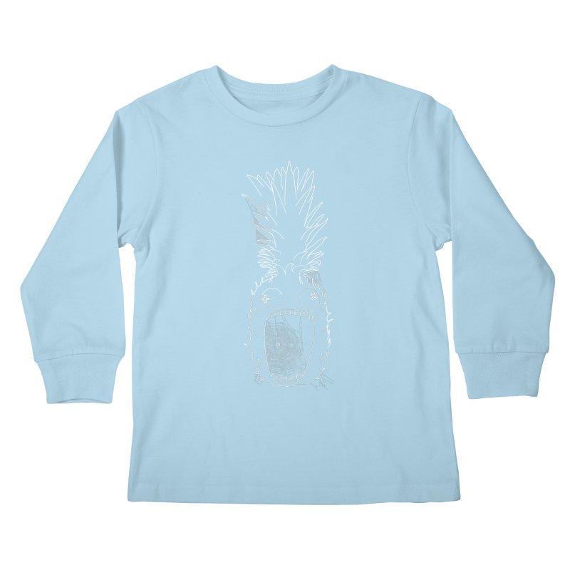 Haunted Pineapple Kids Longsleeve T-Shirt by KAUFYSHOP