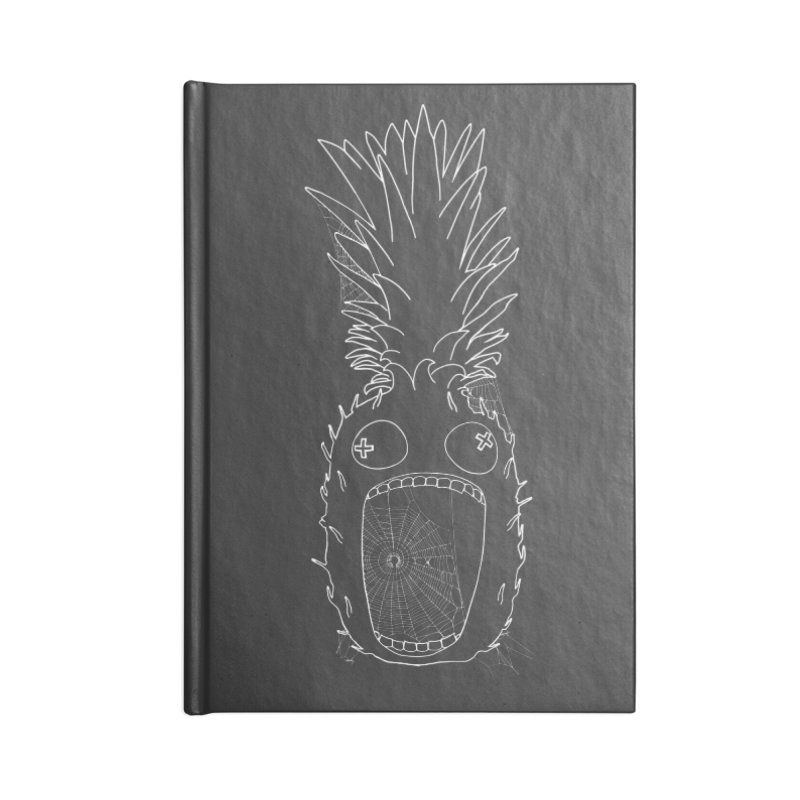 Haunted Pineapple Accessories Blank Journal Notebook by KAUFYSHOP