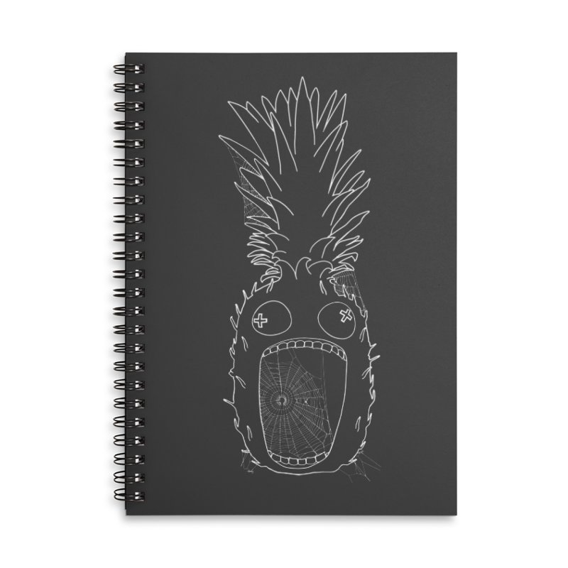 Haunted Pineapple Accessories Lined Spiral Notebook by KAUFYSHOP