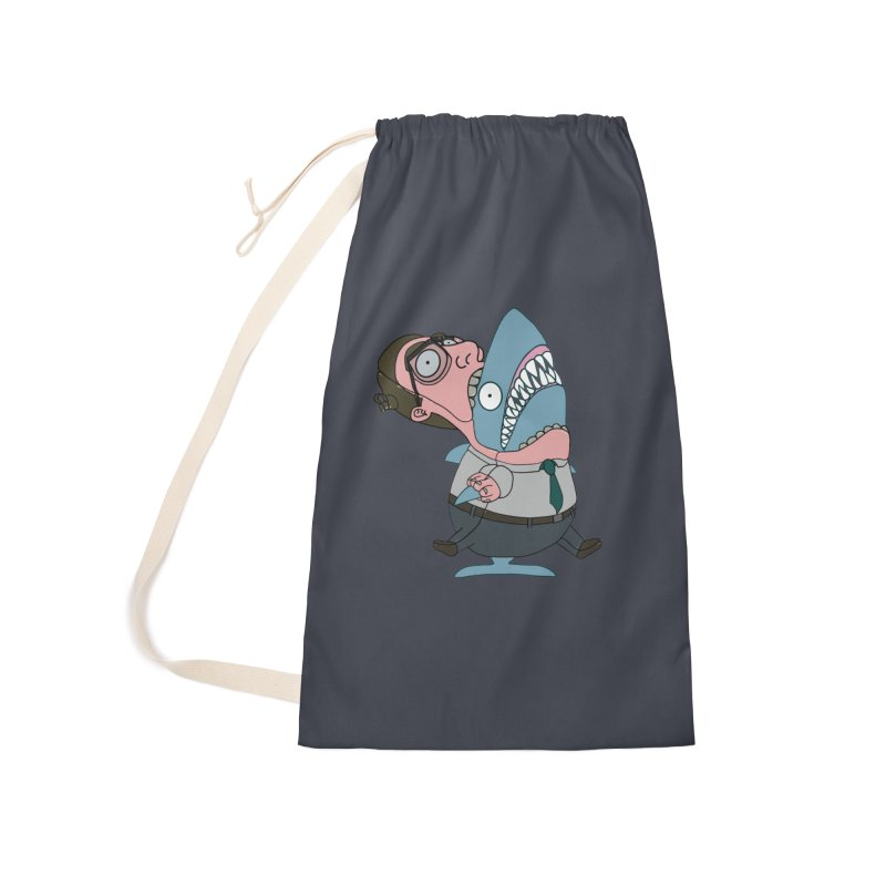Man Shark Accessories Laundry Bag Bag by KAUFYSHOP