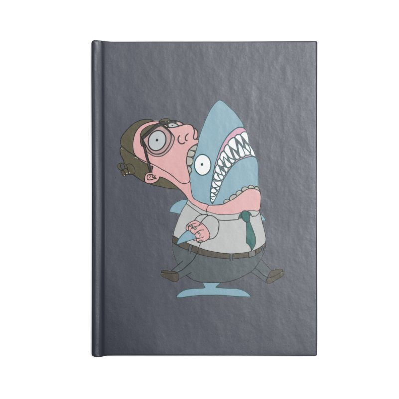 Man Shark Accessories Blank Journal Notebook by KAUFYSHOP