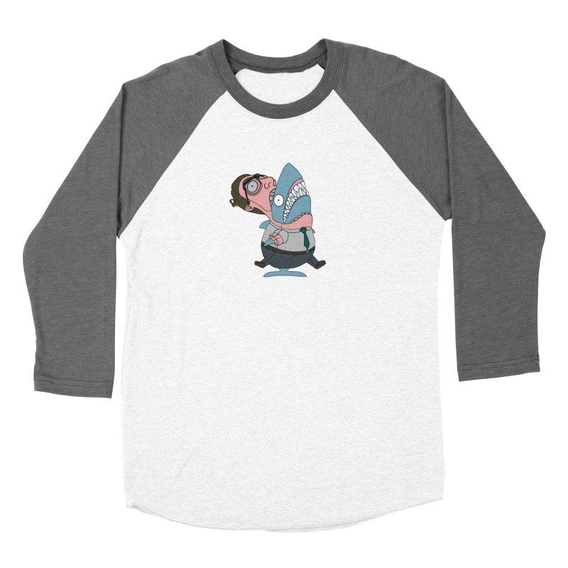 Man Shark Men's Baseball Triblend Longsleeve T-Shirt by KAUFYSHOP