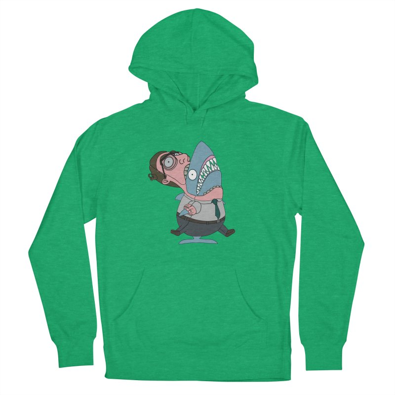 Man Shark Women's French Terry Pullover Hoody by KAUFYSHOP