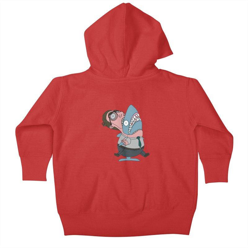 Man Shark Kids Baby Zip-Up Hoody by KAUFYSHOP
