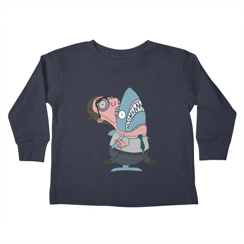 Man Shark Kids Toddler Longsleeve T-Shirt by KAUFYSHOP