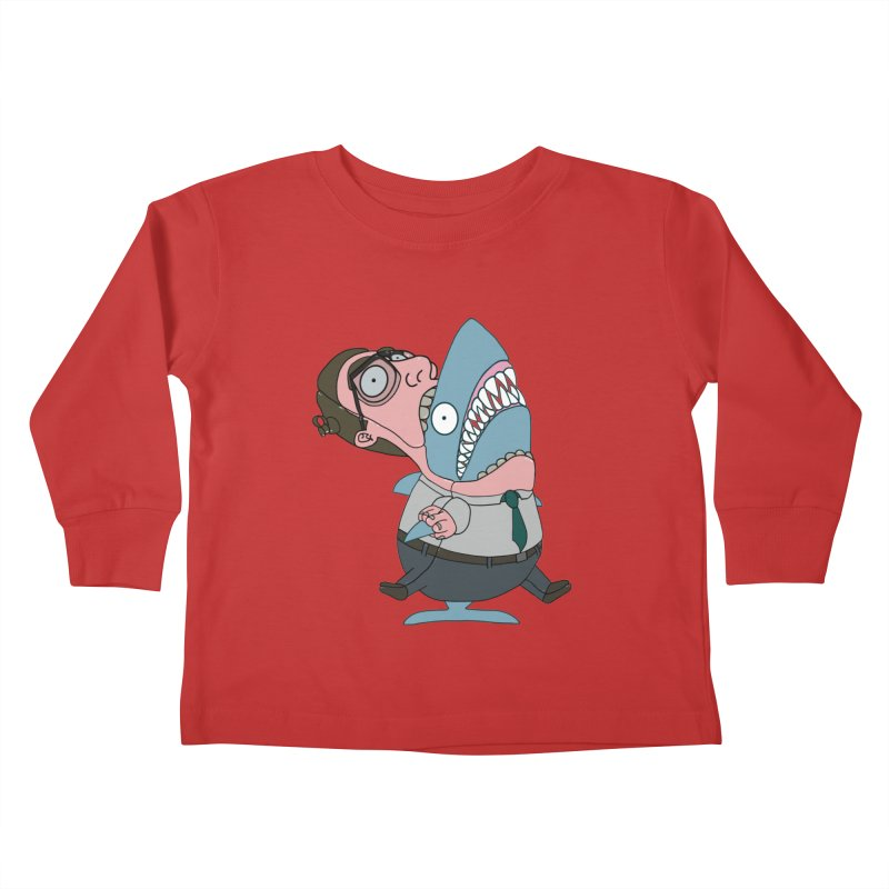 Man Shark Kids Toddler Longsleeve T-Shirt by KAUFYSHOP