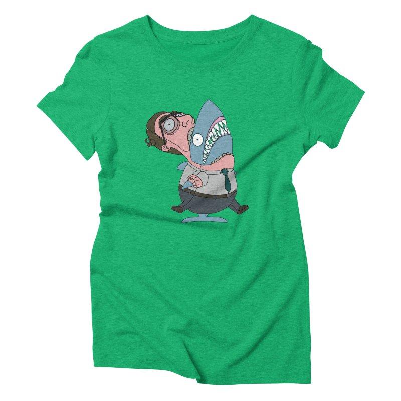 Man Shark Women's Triblend T-Shirt by KAUFYSHOP