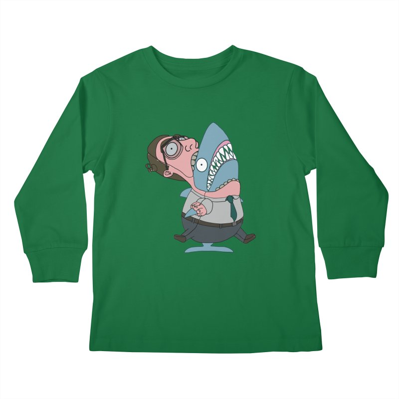 Man Shark Kids Longsleeve T-Shirt by KAUFYSHOP