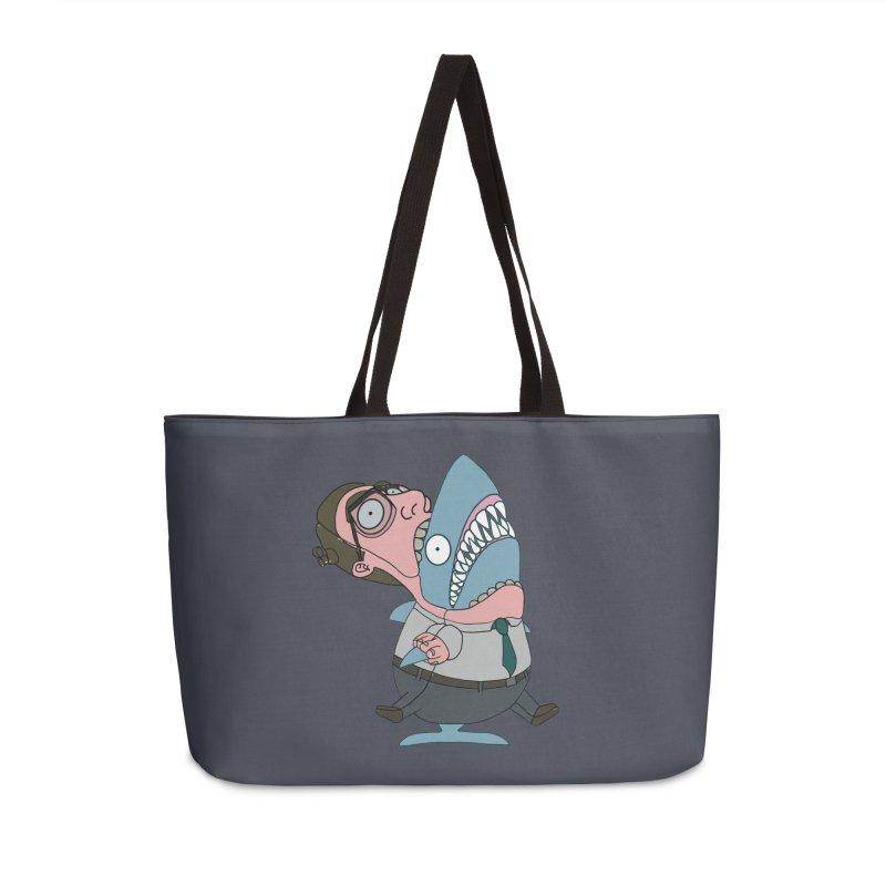 Man Shark Accessories Weekender Bag Bag by KAUFYSHOP
