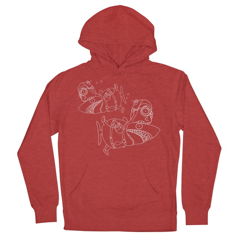 Man Sharks Women's French Terry Pullover Hoody by KAUFYSHOP