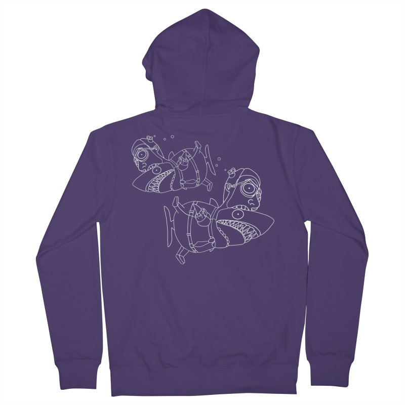Man Sharks Women's French Terry Zip-Up Hoody by KAUFYSHOP