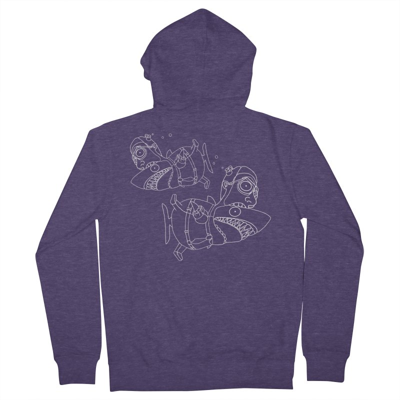 Man Sharks Men's French Terry Zip-Up Hoody by KAUFYSHOP